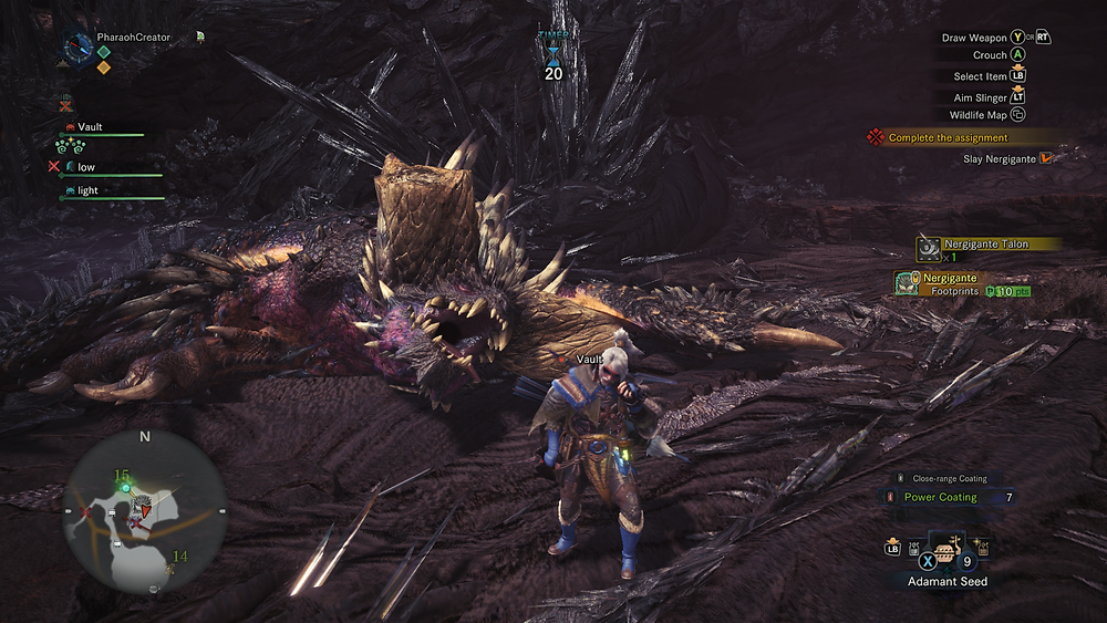 Take that, Nergigante. That's what you get for being an ENORMOUS pain in the arse.