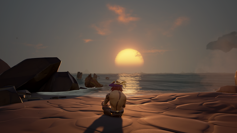 Watching the sun set after a long day fighting.