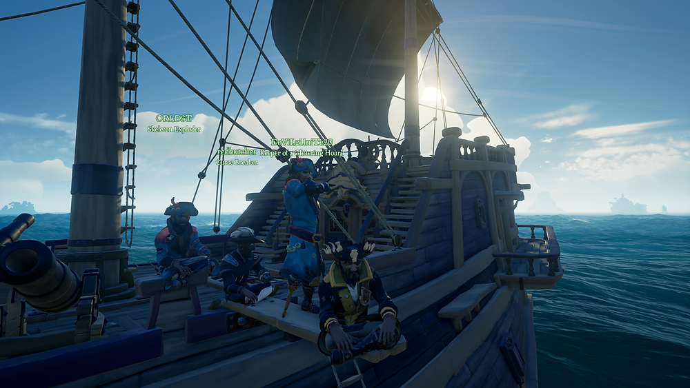 The grizzled crew of The Good Ship Phoenix, at the end of a long voyage in which not a single cannon shot was fired in anger.