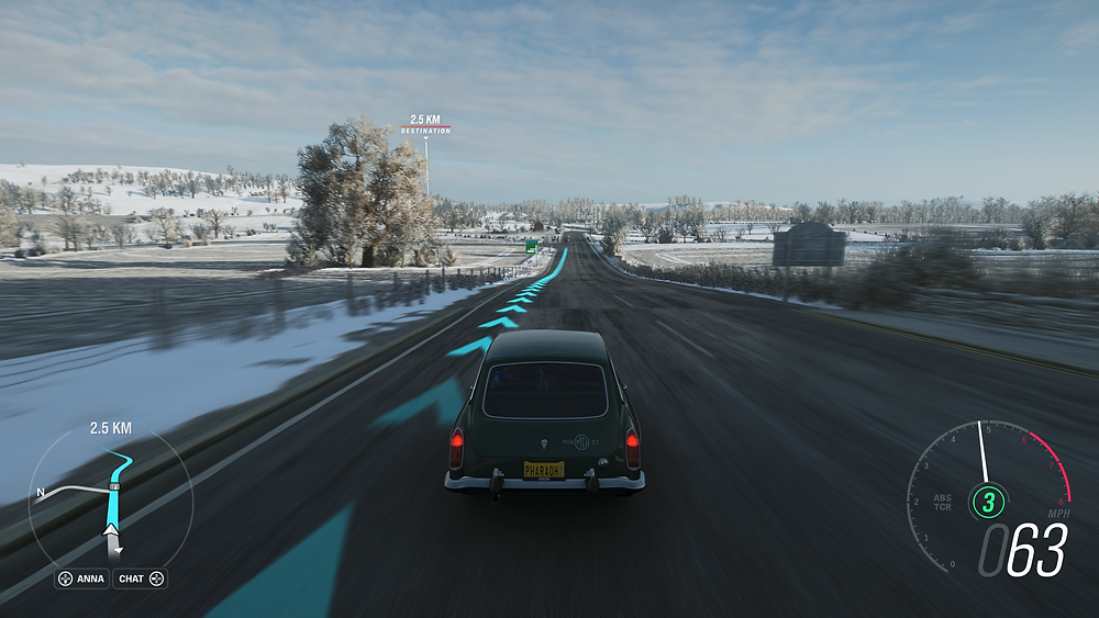 It doesn't get much more British than driving an MGB GT on a slushy road.