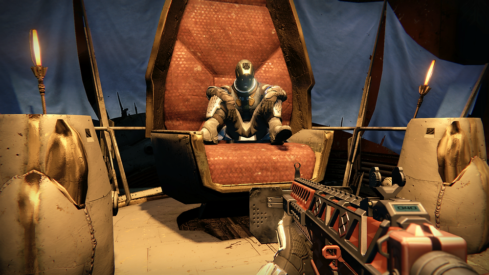 If you're gonna smack down a Fallen Kell, you have to sit in his chair when he's dead. Them's the rules.
