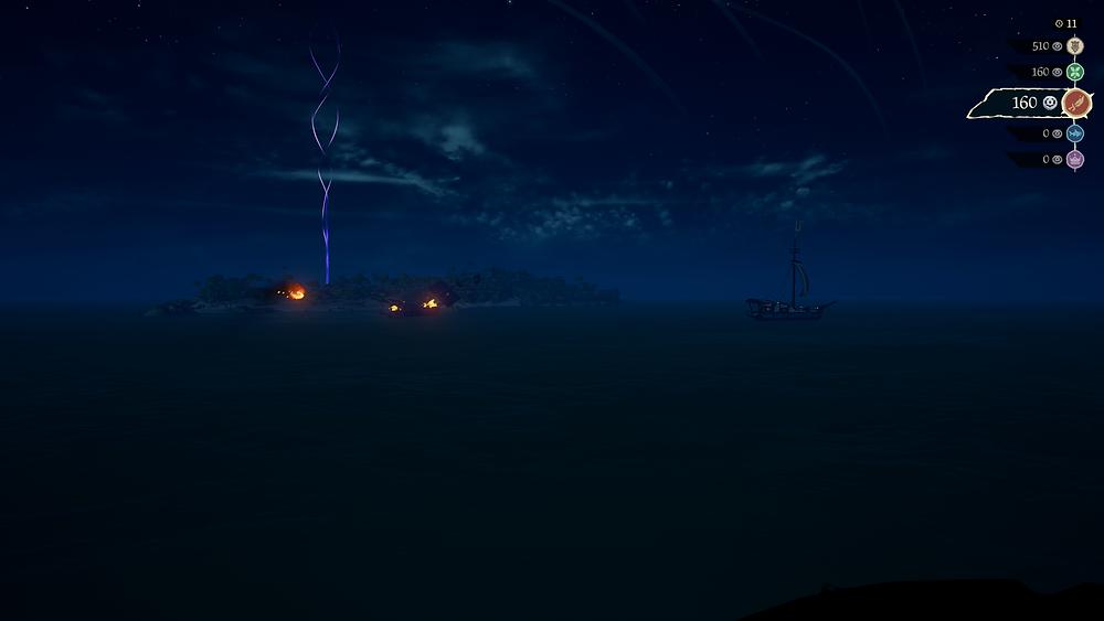Burning ships lighting up the night sky. Standard, really.