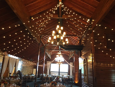 Mt Ida Barn bistro lighting star pattern