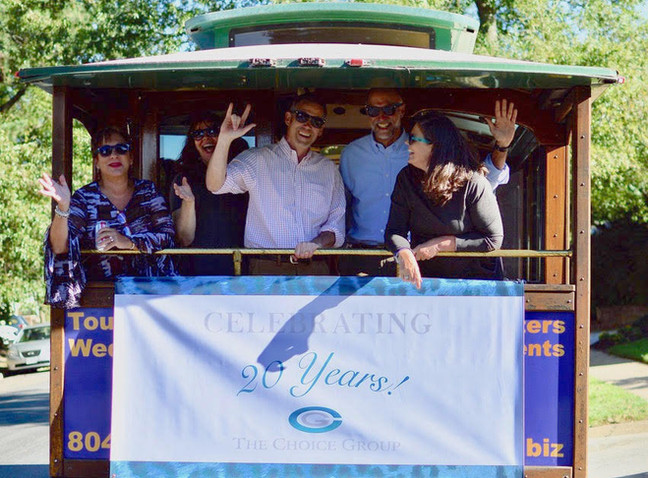 Celebrating 20 Years in Business - picture on Trolley