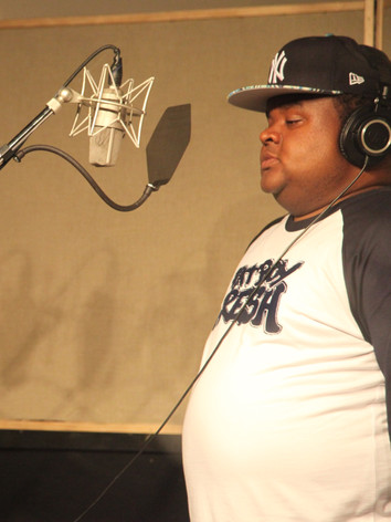 Fred da Godson in the booth