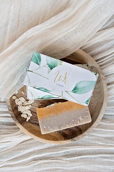 Ръчно сапунче в правоъгълна персонализирана кутия с прин