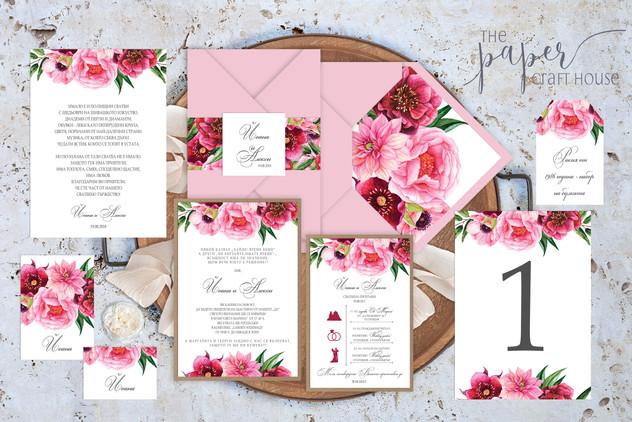 Вариация на Букет в розово