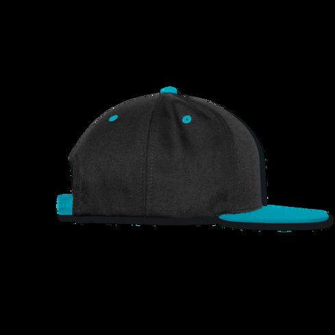 SNAPBACK CAP Schwarz-Türkis SEITE