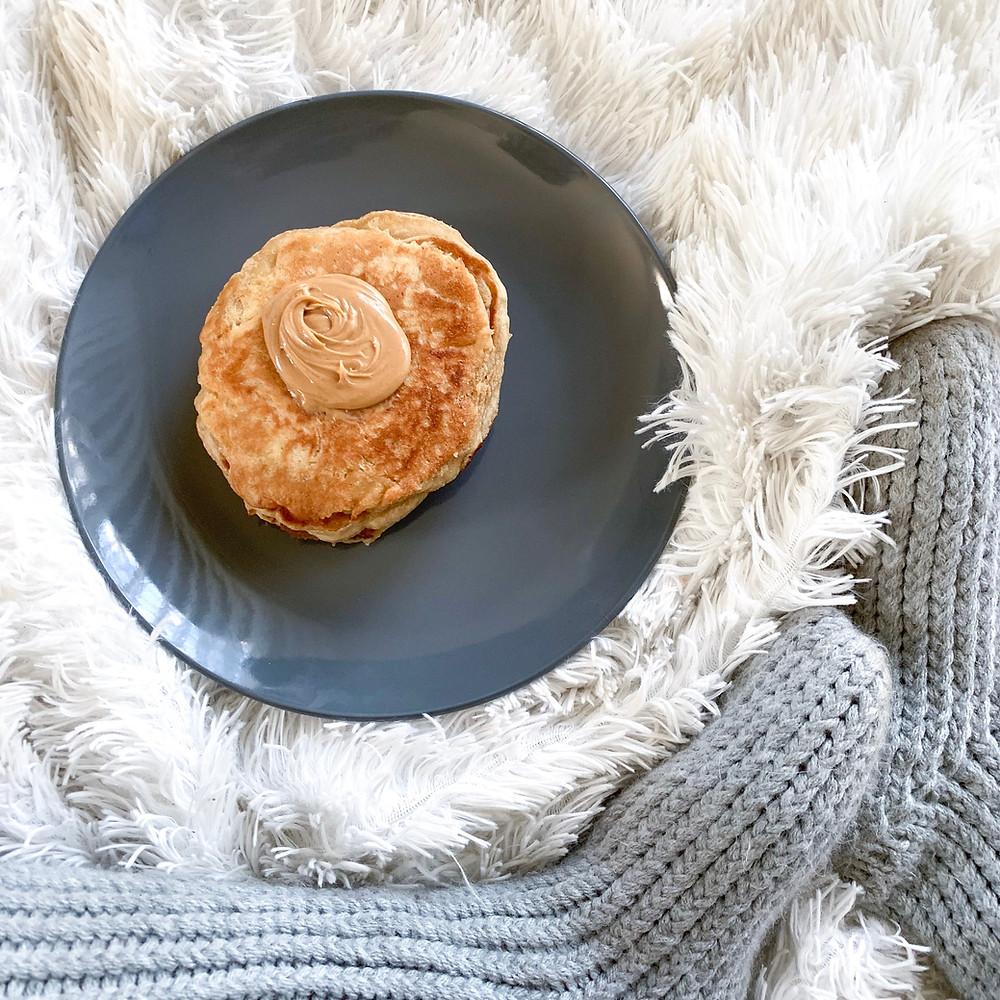 Vegan Peanut Butter Pancake Pancakes
