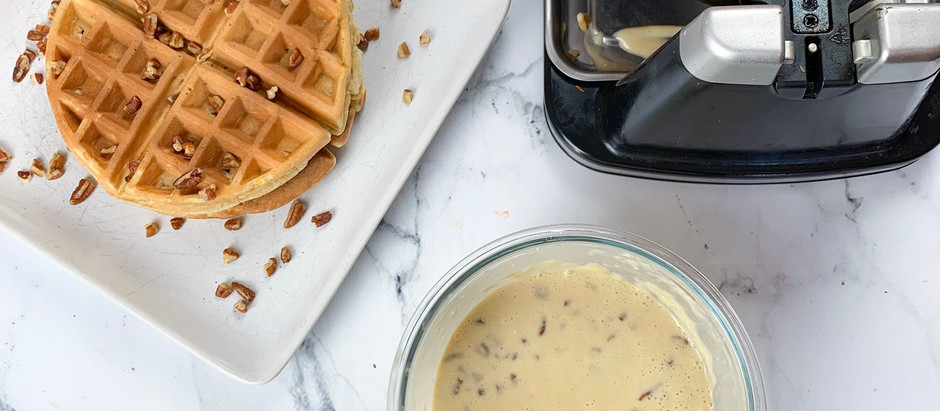 Flavors of Fall | Maple Pecan Waffles
