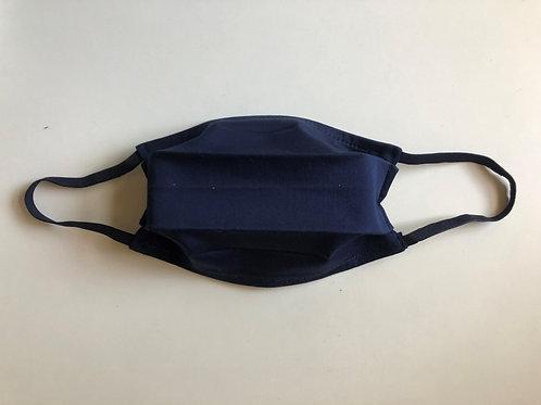 Masque en Satin de Coton Bleu Marine - taille adulte