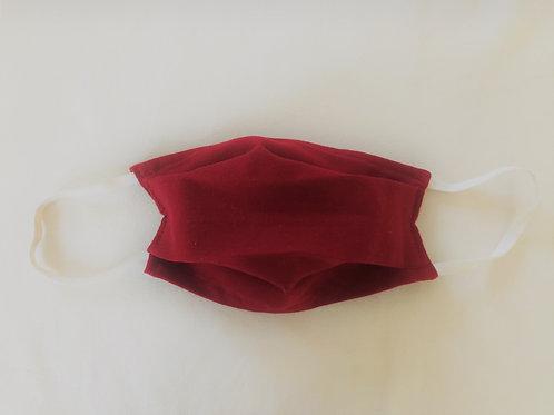Masque en Satin de Coton Bordeaux - taille adulte et enfant