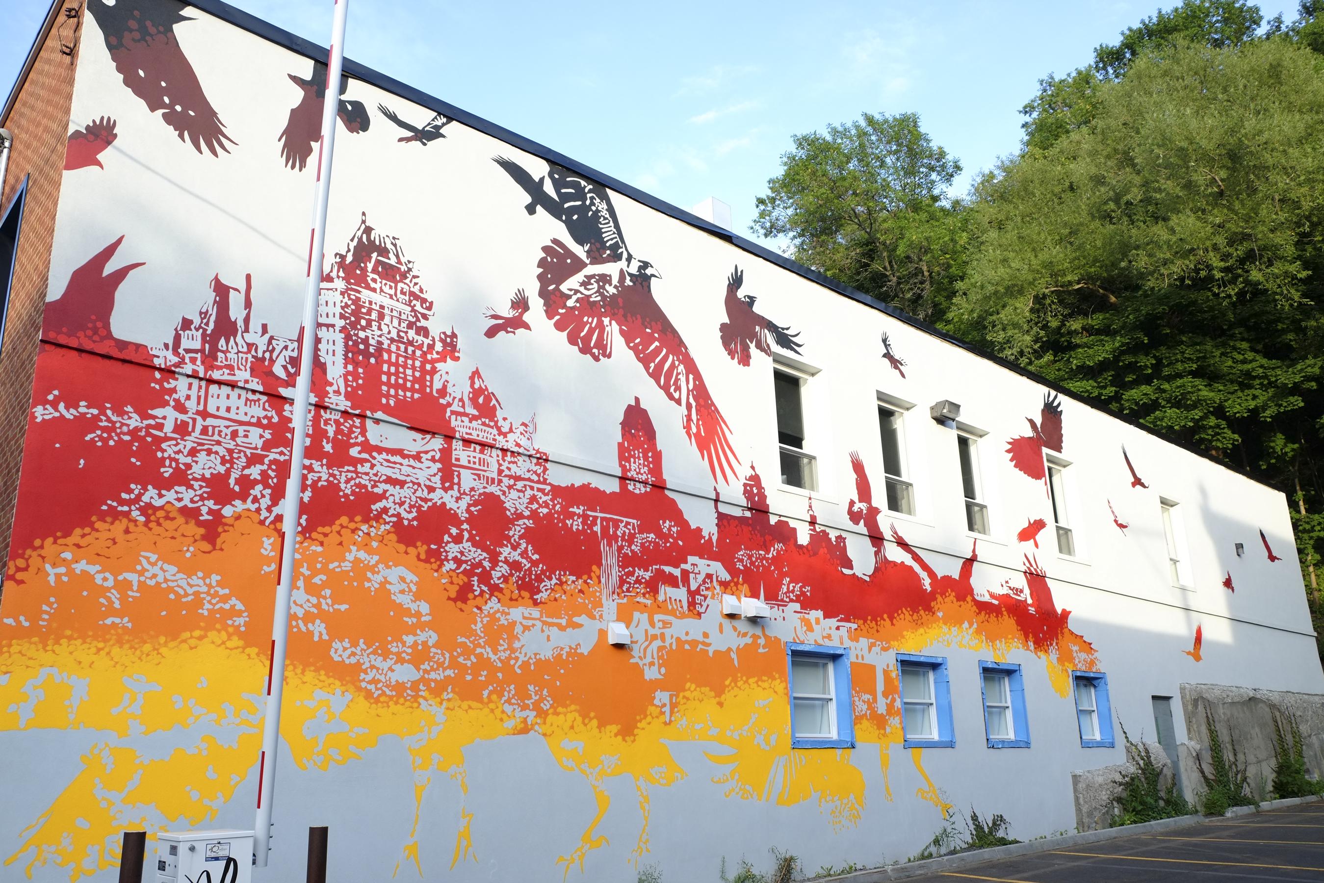 Murale Ville Québec