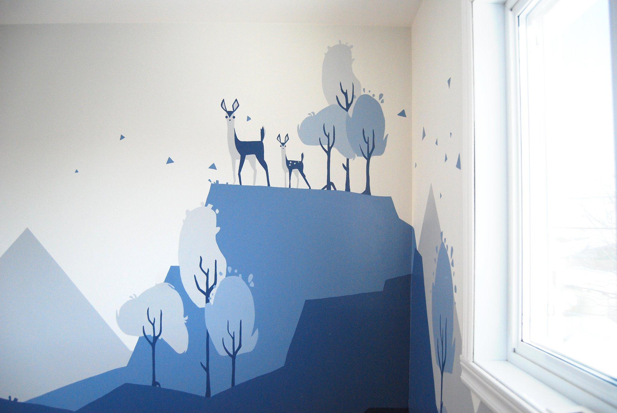 murale montagnes