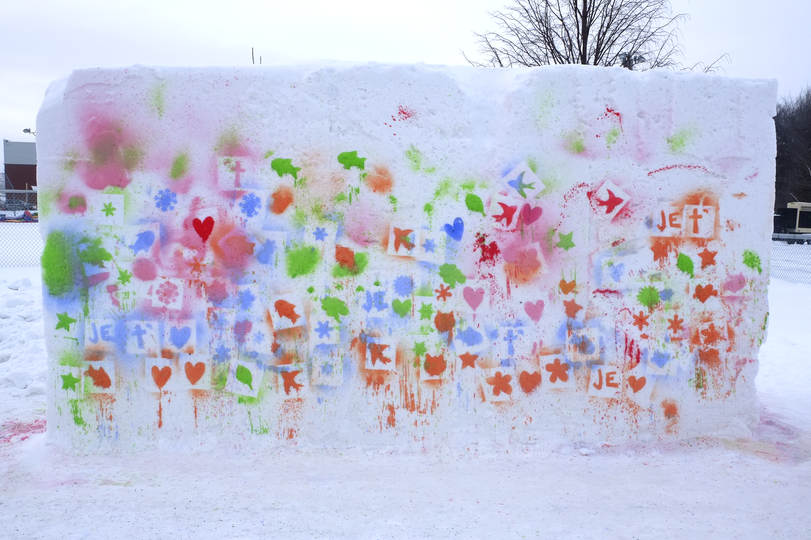 Fresque sur neige