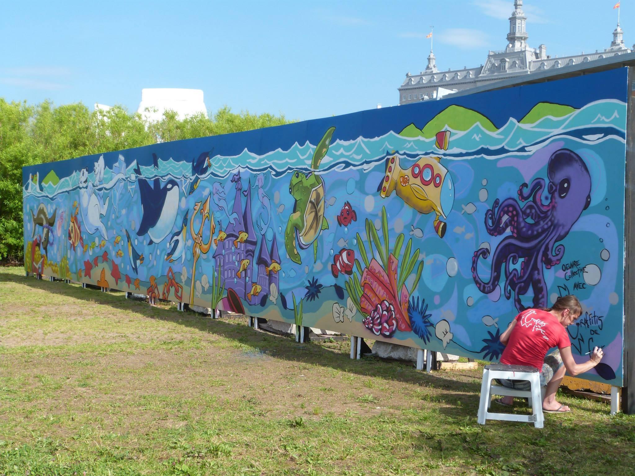 Murale Océan