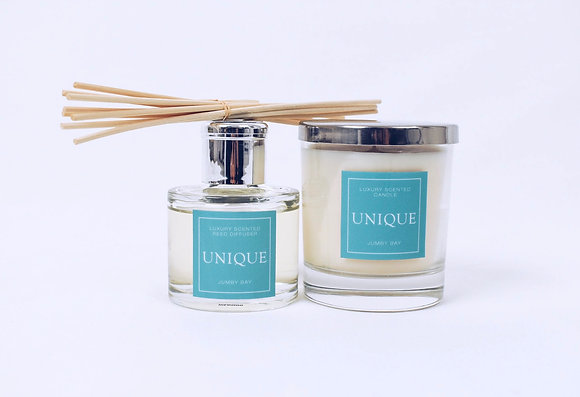 Unique Luxury 'Jumby Bay' Candle & Reed Diffuser Set