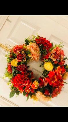 Autumn Nights Faux Wreath