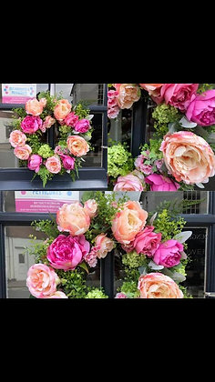 Peony Dream Faux Wreath
