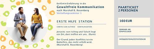 31.07. Gewaltfreie Kommunikation Vertiefungsseminar 2  Paarticket  17:00-22:00