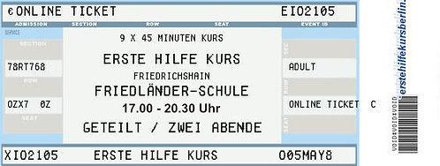 20. + 21.02. - Erste-Hilfe-Kompaktkurs 40 € / Friedländer-Schule 17-20:30 Uhr