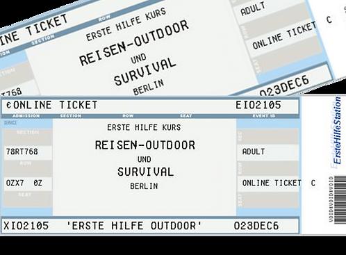 """30.08. - 2er-Ticket  Erste Hilfe """"Outdoor"""" 17:00-21:00 Uhr / Friedländer Schule"""