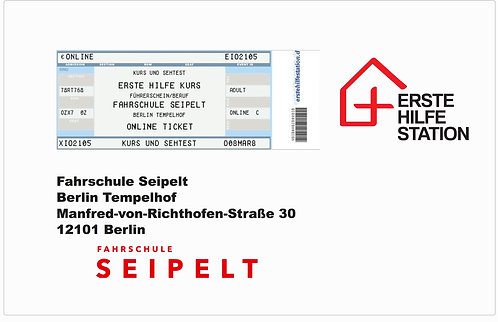 31.03. - Kurs & Sehtest 35 € / Fahrschule Seipelt 10:00-17:30 Uhr