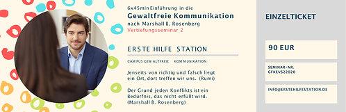 31.07. Gewaltfreie Kommunikation Vertiefungsseminar 2  Einzelticket  10:00-15:00