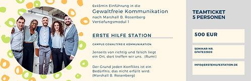 30.06. Gewaltfreie Kommunikation  Vertiefung 1  5erTeamticket  17:00-22:00