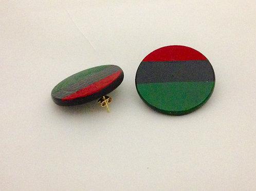 RBG wooden earrings