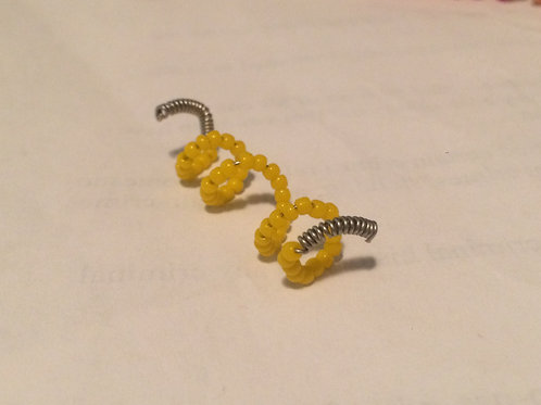 Yellow Beaded Spiral
