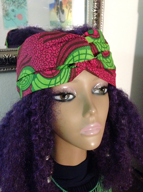 Pink passion turban headwrap