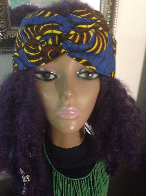 Blueberry Turban Headwrap