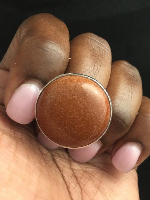 Goldstone Cocktail ring