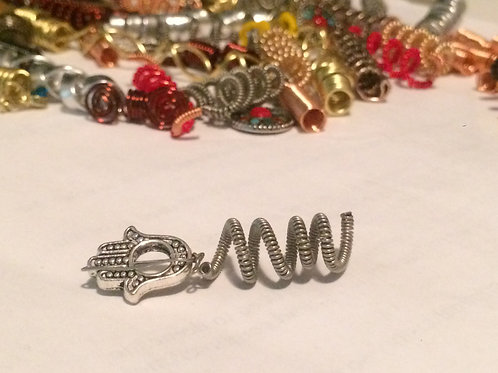 Silver Spiral Hand of Fatima
