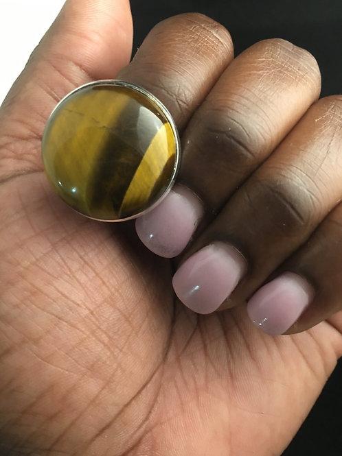 Tiger's Eye cocktail ring