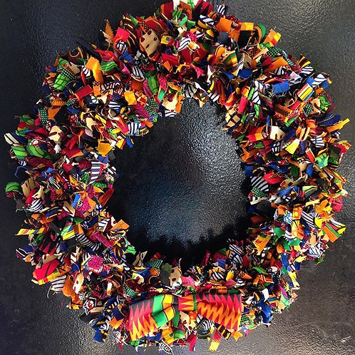 African Fabric Wreath