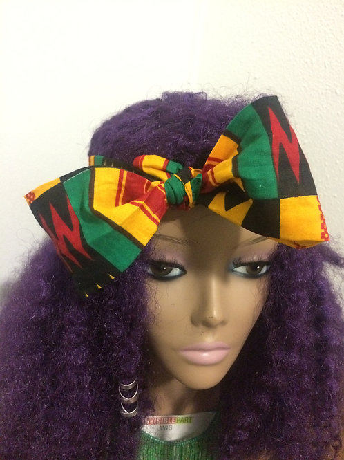 Kente bow headband