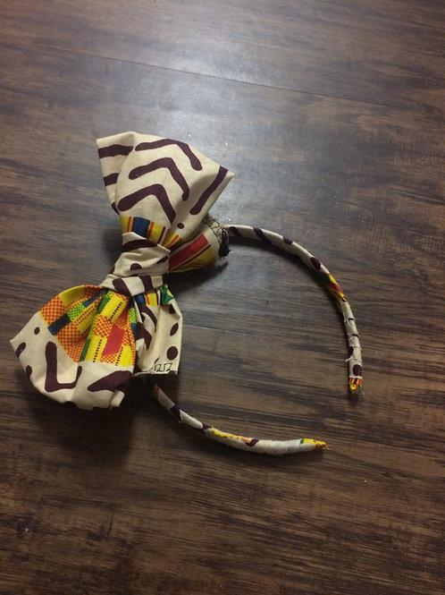 Tribal Fabric Wrapped Headband