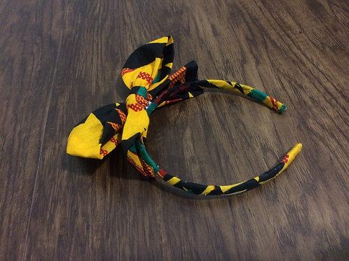 Kente Fabric Wrapped Headband