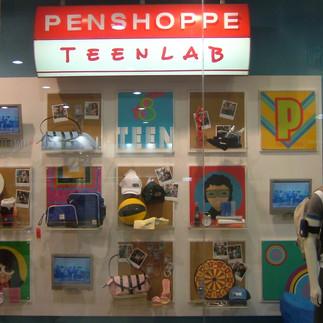 Penshoppe Teenlab window
