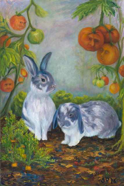 """Penny and Sweetie, 2016, 24""""x 36"""", Prints Available"""