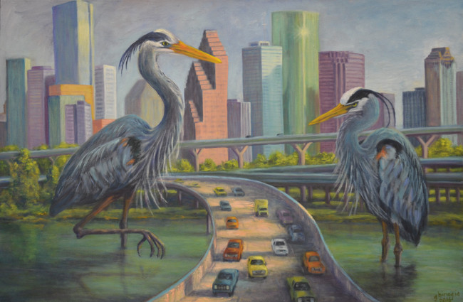 "City Streams II, 2016, 24""x36"", Prints available"