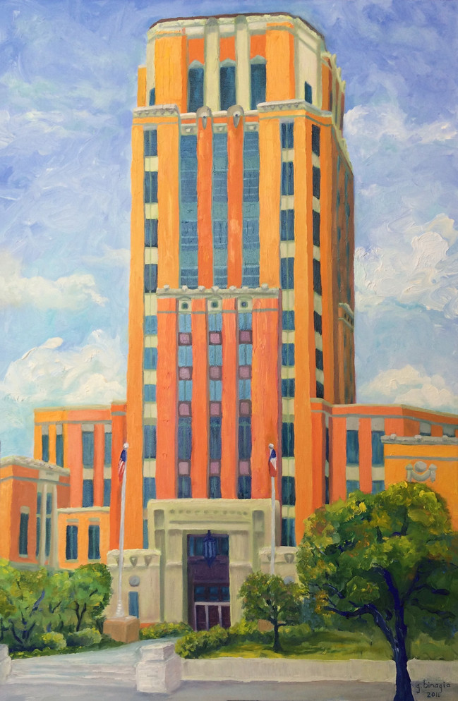 """Jefferson County Courthouse, 2016, 36""""x24"""""""