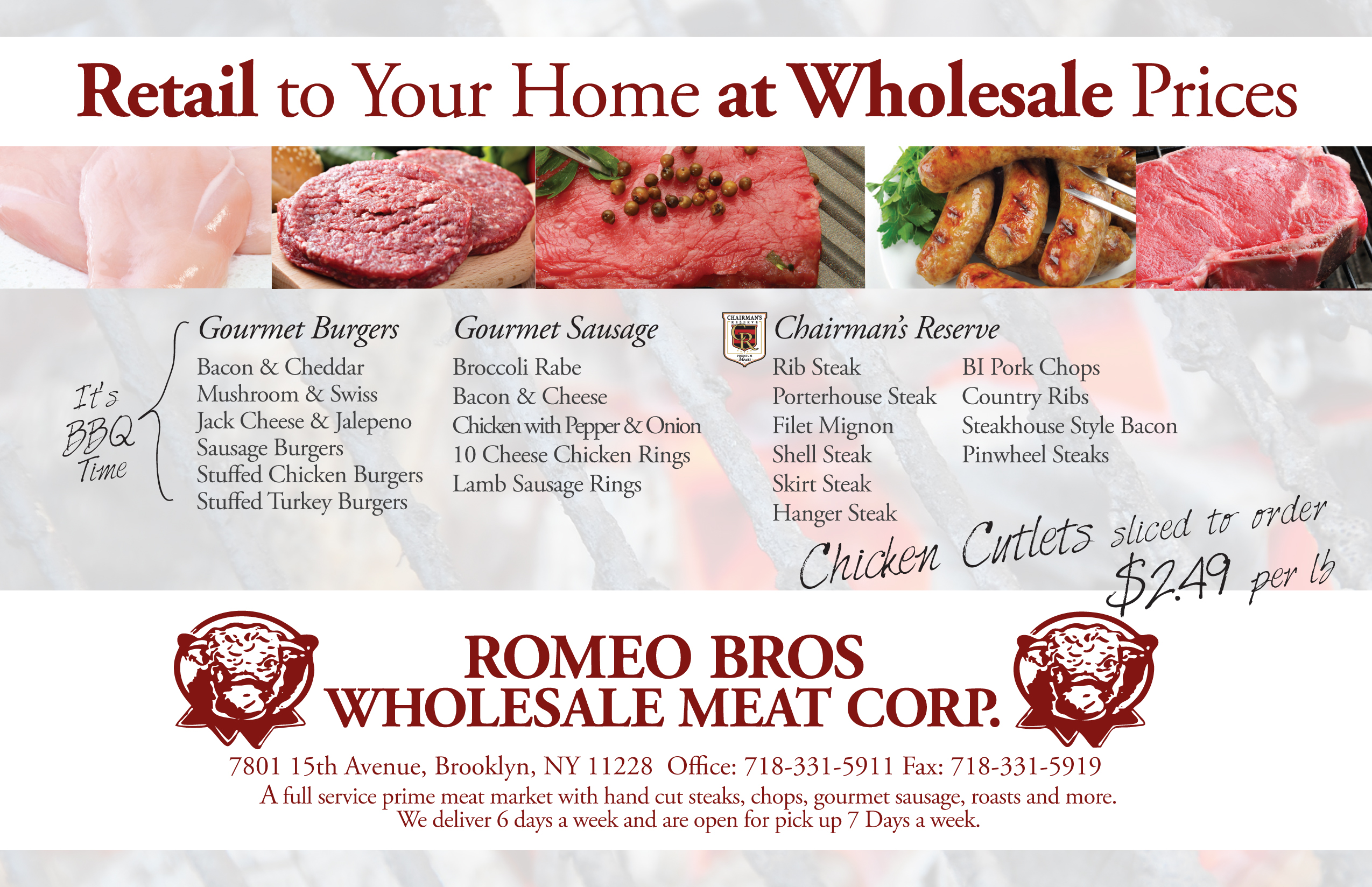 Brooklyn Butcher Direct Mail Card