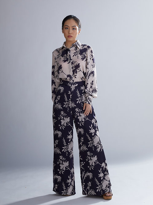 Purple And Lavender Floral Pants