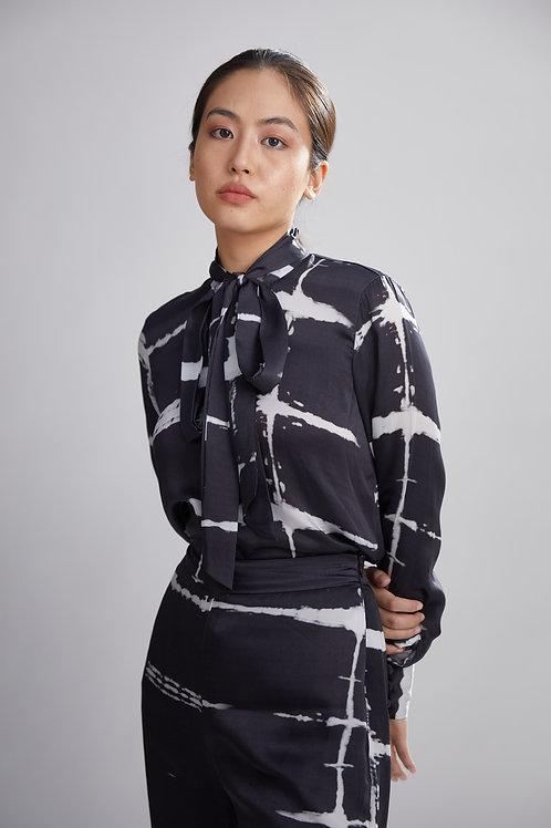 Black And White Shibori Shirt