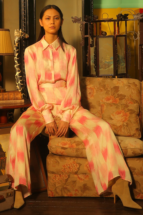 White And Pink Dabu Square Pants