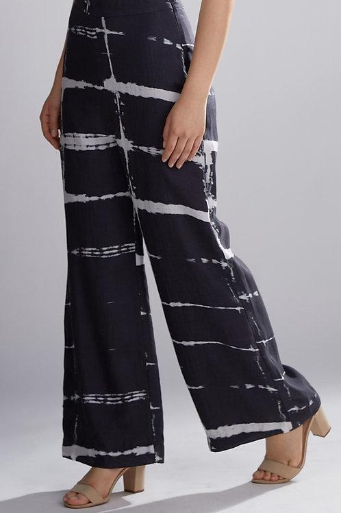 Black And White Shibori Pants
