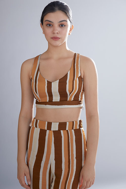 Brown, Rust And Cream Bustier